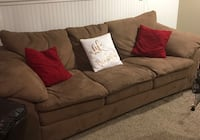 Microfiber Sofa/Couch - 3 Seat - Tan - Used - In great condition - Very Comfortable Lake Ronkonkoma