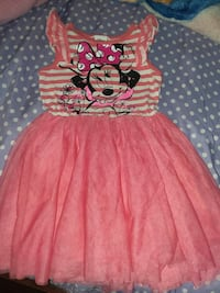 girl's pink and white Minnie Mouse sleeveless dress South Gate, 90280
