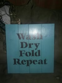 Wash Dry Fold repeat wooden wall decor Bluff City, 37618
