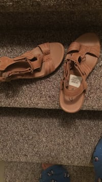 women's brown wedge sandals Port Coquitlam, V3C 3A2
