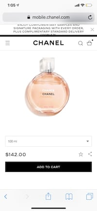 Chanel chance line all are original products and 100ML Toronto, M9C 0B1