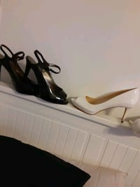 2 pair of heels black and white  Baltimore, 21213