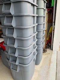 28 gallon Rubbermaid trash cans only