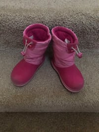 Pretty Pink Crocs boots for 6 yr old girl!! Rockville, 20850