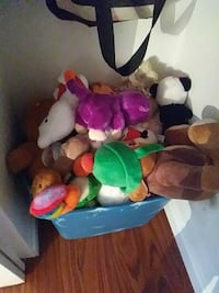 assorted color of plush toy lot