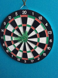 green, white, red, and black dartboard Edmonton, T5W 1X5