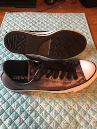 Blk metallic Converse Tennis Shoes Size  7 Belton, 76513