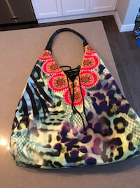 Colourful large tote