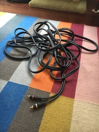 25' insulated RCA audio cable