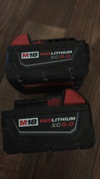 2 Milwaukee batteries 5.0  Springfield, 22153