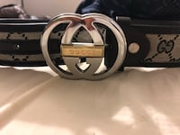 black and gray Gucci belt Leesburg, 20175