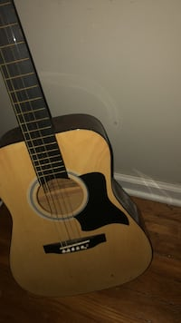 brown and black acoustic guitar Somerset, 08873