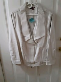 leather jacket by Jessica london size 24 East Providence, 02916