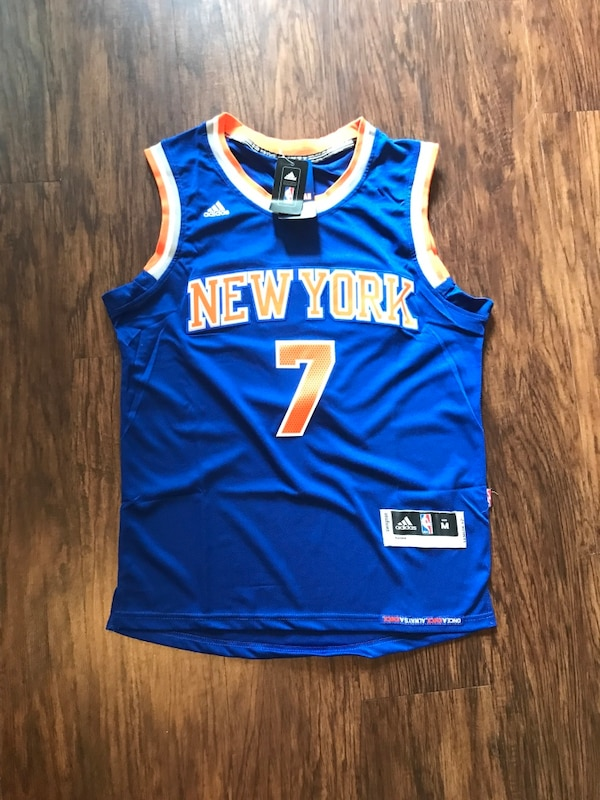 1df1116d9266 Used blue and orange New York 7 basketball jersey for sale in Hollywood -  letgo