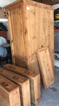 Pine Armoire For clothes or electronics Channahon, 60410