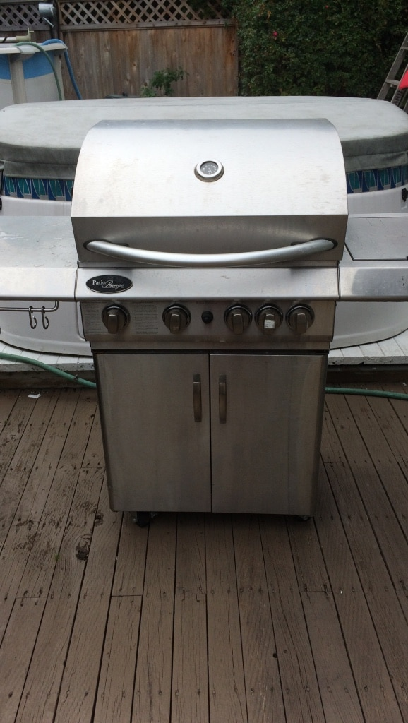 Stainless steel 5-burner gas grill