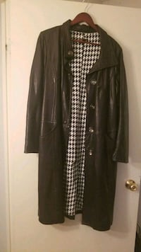 black button-up coat Ajax