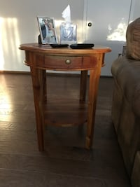 brown wooden side table with drawer Southfield, 48076