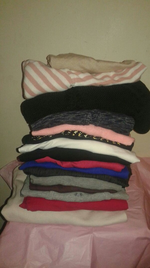 Love pink name brands16 long sleeves and sweaters