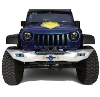 TOPFIRE Front Bumper with Winch Mounting Tray, Jeep Wrangler 07-17