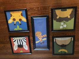 Jungle Theme Kids Room Art