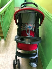 Baby's grey and red garco stroller New York, 11237