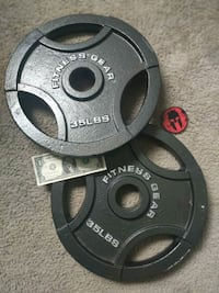 Pair of 35 LBS Weight Plates