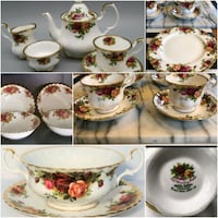 Beautiful Royal Albert Old Country Roses for 6 Persons Plus Tea Servic Mississauga, L5J 2E5
