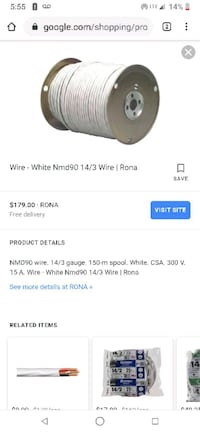 Brand new 14/3 roomex cable. .location near jocyre area need gone Vancouver, V5R 2J1