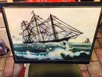 white and black galleon ship on ocean water painting Taunton, 02780