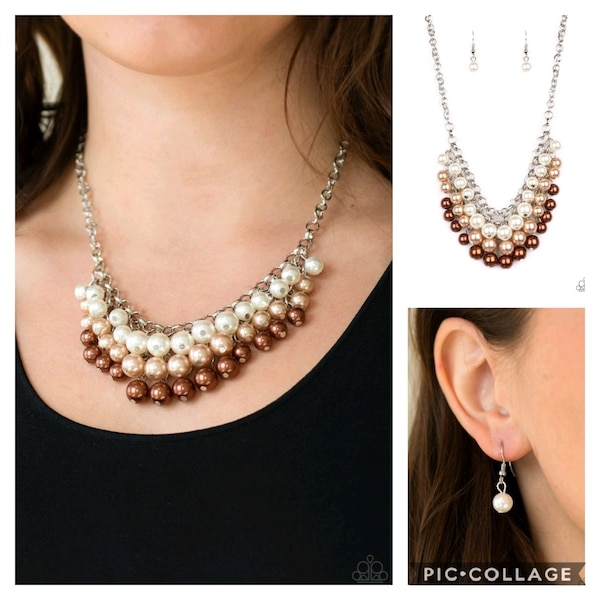 Run for the heels brown necklace