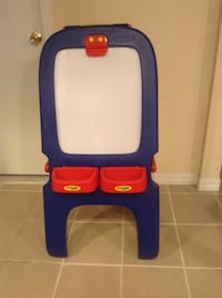 blue, red, and white plastic easel Brentwood