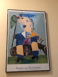 Metal framed Picasso poster. 25.6x39.1 Potomac, 20854