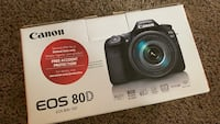 Canon EOS 80D lens not included CASH ONLY