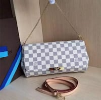 Damier Azur Louis Vuitton leather crossbody bag VANCOUVER