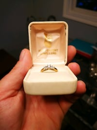 Engagement ring diamond set in 14 karat gold Edmonton, T5A 3H3