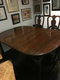 Dark wood dining room table w/4 chairs Brooklyn, 11209