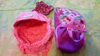 Doll bed with dress and carrier 2162 mi