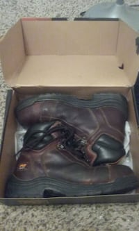 pair of black leather work boots Amarillo, 79109