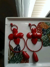 pair of red earrings Washington, 20002