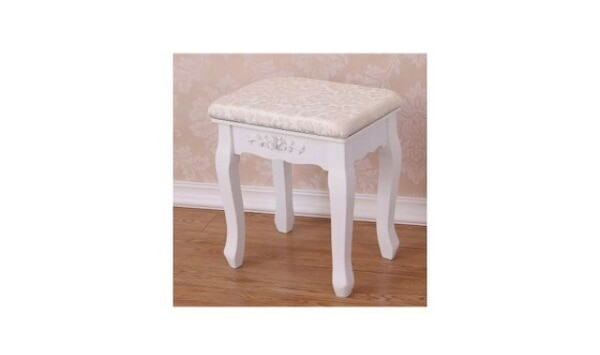 White vintage dressing table chair