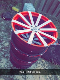 24s just the 4 rims no tires  [PHONE NUMBER HIDDEN]   Naples, 34114
