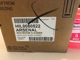 1 CASE (6 2-QUART BOTTLES) NEW ARSENAL ACIDIC RESTROOM CLEANER