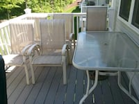 Glass patio table and 6 chairs  North Haven, 06473