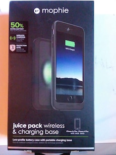 Mophie Juice Pack Wireless and charging base box
