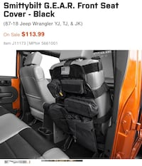 Smittybilt G.E.A.R Jeep Seat Cover Germantown, 20874