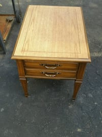 brown wooden single-drawer end table Toronto, M6E 3H6