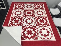 Stunning red &whit quilt SUGARLAND