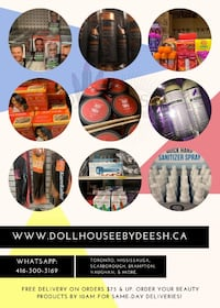 Mobile Beauty Supplies! Order what you need tax fee Mississauga
