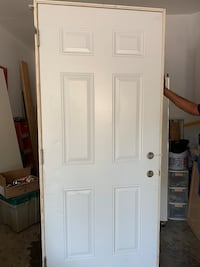 Steel door with frame